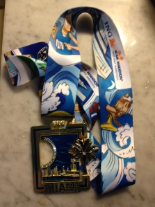 Got my race bling - right side up this year. (c) Stacey Cooper