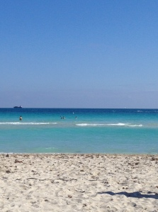 This distracted me. It would distract you too if you came from frigid NYC. Miami Beach temp 78, NYC temp 31. (c) Stacey Cooper