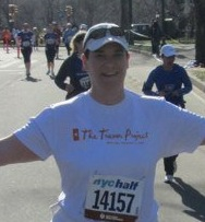 Running for Team Trevor in the 2011 NYC Half Marathon.