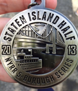 Some nice race bling. Also, it's hard to run seven extra miles with a medal in your pocket. (c) Stacey Cooper