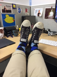 Argyle compression socks, comfy and stylish!