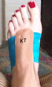 All KT Taped up and no where to go. For the time being at least.