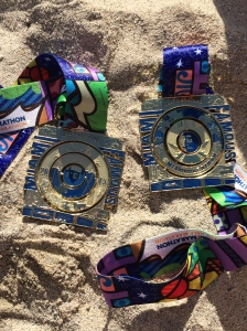 Our medals worked really hard and needed some well earned beach time. (c) Stacey Cooper