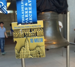My Broad Street Medal did some sightseeing before we went home. (c) Stacey Cooper