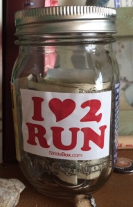 A little visual and monetary reminder that I do indeed love to run. (c) Stacey Cooper