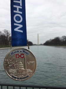 My medal decided to hit the town the day after the race. #MedalOnTheTown (c)  Stacey Cooper